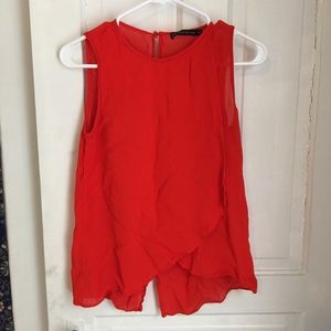 Zara red top